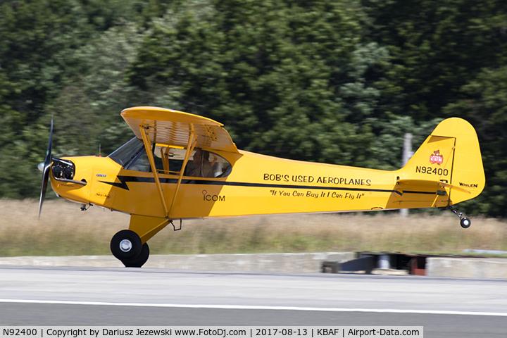 N92400, 1946 Piper J3C-65 Cub Cub C/N 16862, Piper J3C-65 Cub  C/N 16862, N92400