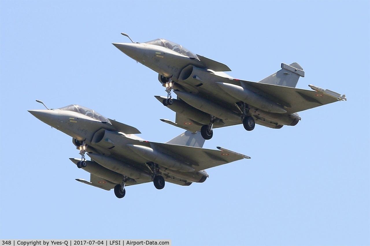 348, Dassault Rafale B C/N 348, Dassault Rafale B, Short approach rwy 29, St Dizier-Robinson Air Base 113 (LFSI)