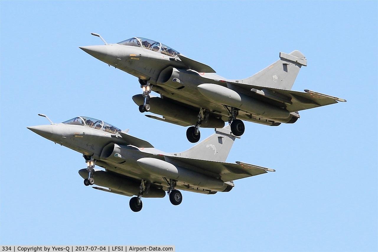 334, Dassault Rafale B C/N 334, Dassault Rafale B, Short approach rwy 29, St Dizier-Robinson Air Base 113 (LFSI)