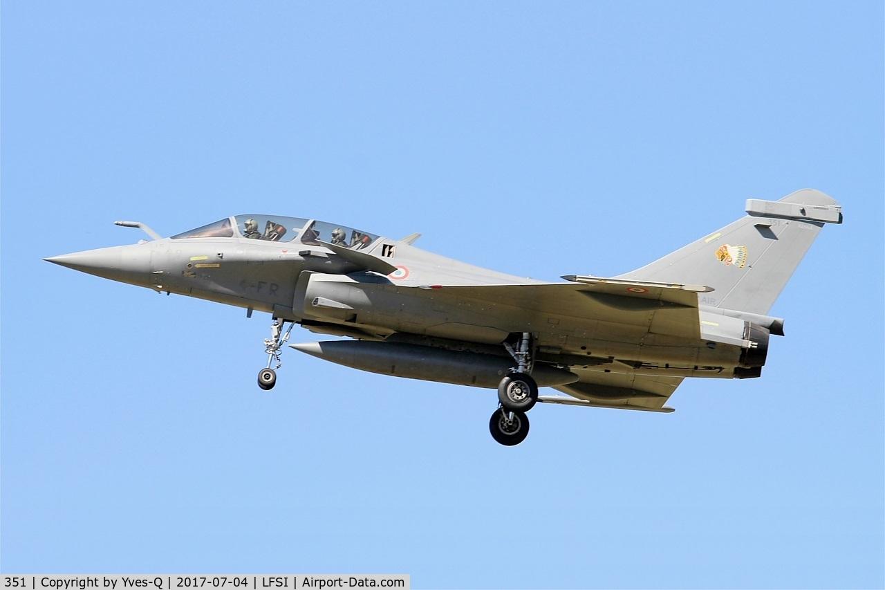 351, 2014 Dassault Rafale B C/N 351, Dassault Rafale B, Short approach rwy 29, St Dizier-Robinson Air Base 113 (LFSI)