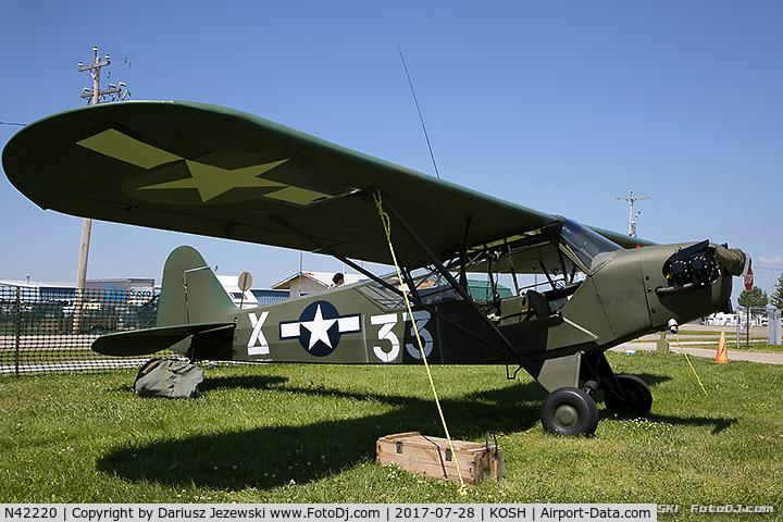 N42220, 1945 Piper J3C-65 Cub Cub C/N 14470, Piper J3C-65 Cub  C/N 14470, N42220