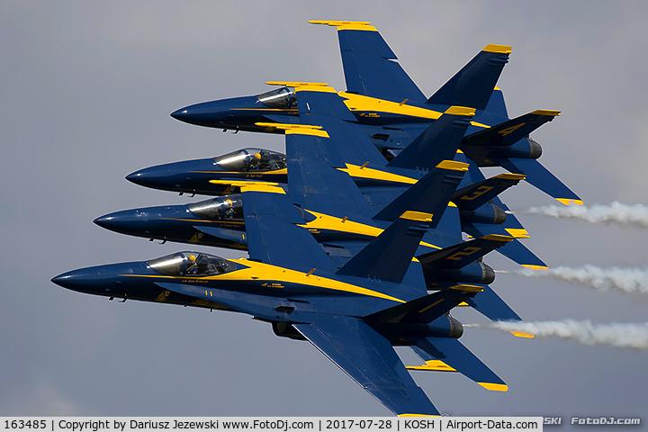 163485, 1988 McDonnell Douglas F/A-18C Hornet C/N 0717/C044, F/A-18C Hornet 163485  from Blue Angels Demo Team  NAS Pensacola, VA