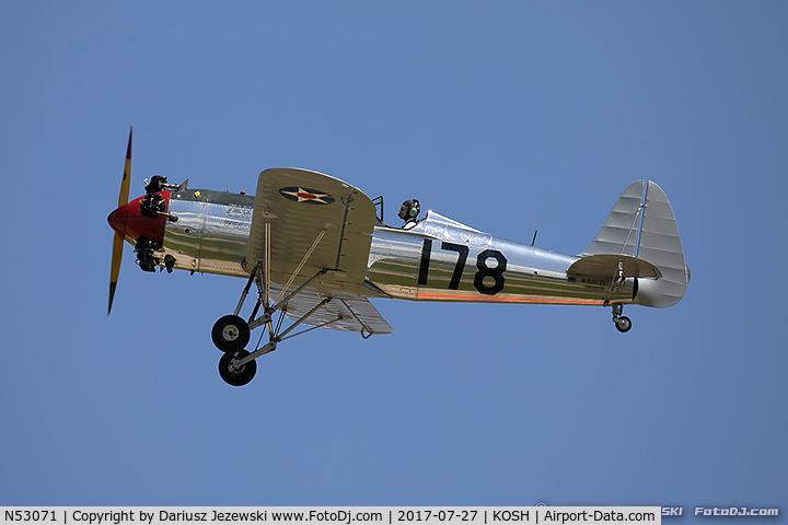 N53071, 1942 Ryan Aeronautical ST3KR C/N 1909, Ryan Aeronautical ST3KR  C/N 1909, N53071