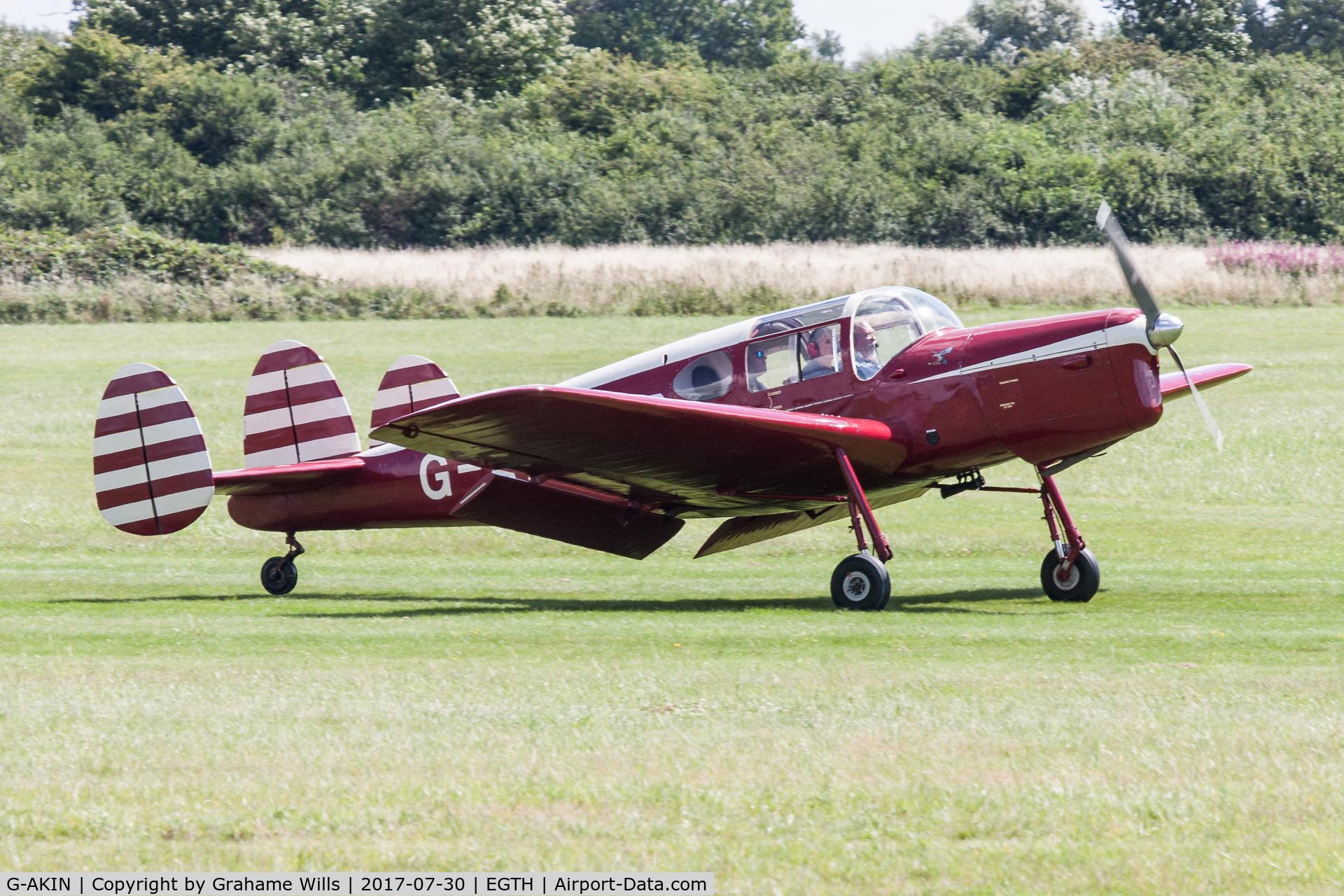 G-AKIN, 1947 Miles M38 Messenger 2A C/N 6728, Miles Messenger 2A G-AKIN Sywell Messenger Trust Gathering of Moths Old Warden 30/7/17