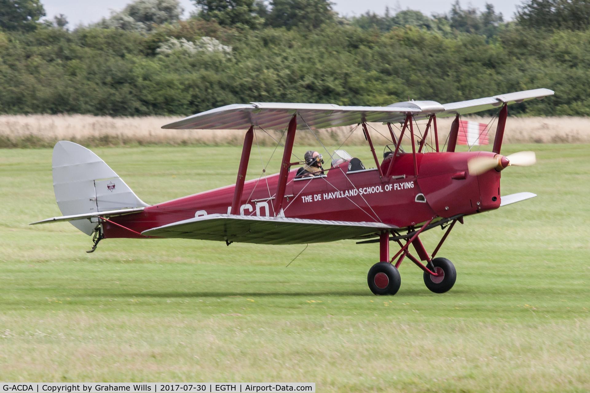 G-ACDA, 1934 De Havilland DH-82A Tiger Moth II C/N 3175, De Havilland DH82A Tiger Moth G-ACDA Gathering of Moths Old Warden 30/7/17