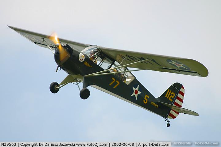N39563, 1944 Aeronca 65-TAC C/N F5664TA, Aeronca 65-TAC L-3B C/N F5664TA, N39563
