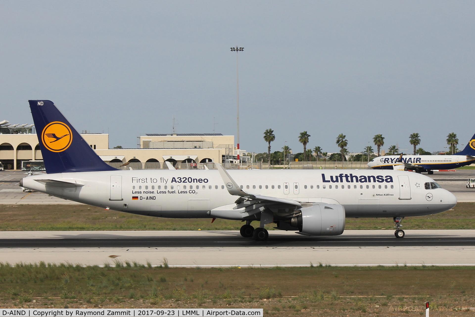 D-AIND, 2016 Airbus A320-271NEO C/N 7078, A320Neo D-AIND Lufthansa
