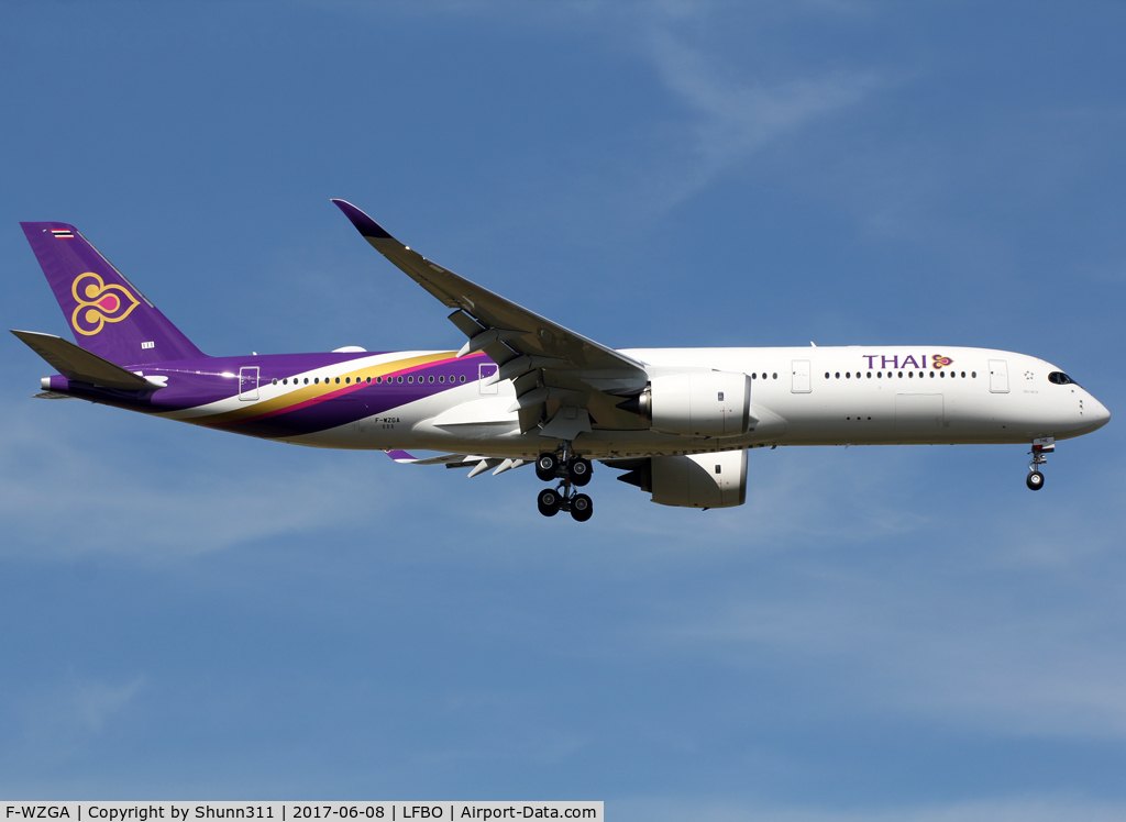 F-WZGA, 2017 Airbus A350-941 C/N 0111, C/n 0111 - To be HS-THE