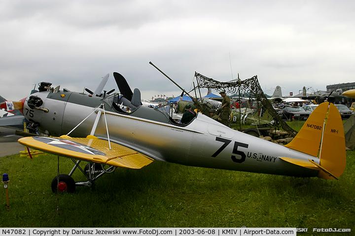 N47082, 1941 Ryan Aeronautical ST3KR C/N 1443, Ryan Aeronautical ST-3KR (PT-22)  C/N 1443, N47082