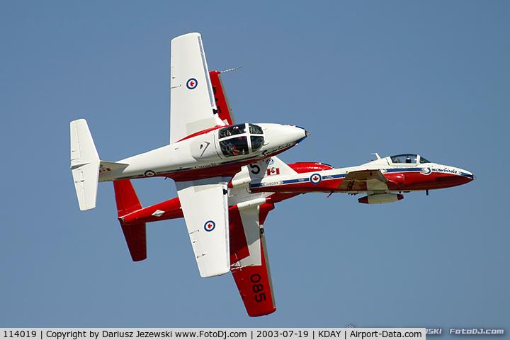 114019, Canadair CT-114 Tutor C/N 1019, CAF CT-114 Tutor 114019 C/N 1019 from Snowbirds Demo Team 15 Wing CFB Moose Jaw, SK