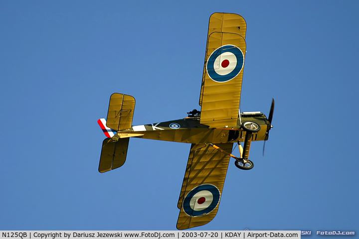 N125QB, Royal Aircraft Factory SE-5A Replica C/N D3540, Se-5A C/N D3540, N125QB