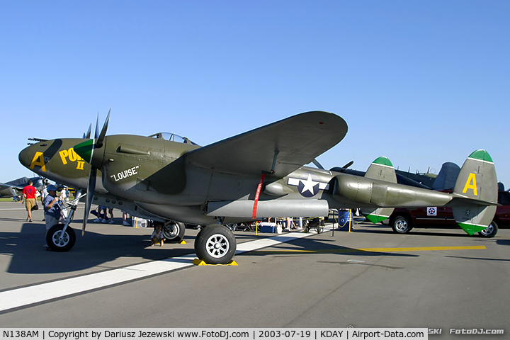 N138AM, 1943 Lockheed P-38J Lightning C/N 44-23314, Lockheed P-38J Lightning