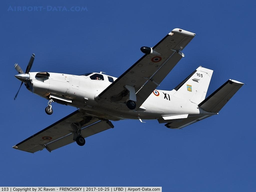 103, Socata TBM-700A C/N 103, COTAM 3831 landing runway 23