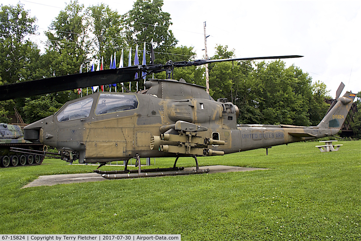 67-15824, 1967 Bell AH-1F Cobra C/N 20488, Preserved in the town of Bangor, Wisconsin