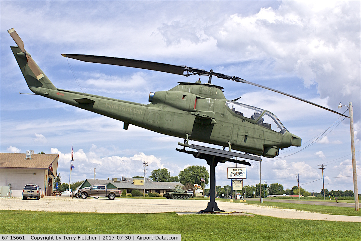 67-15661, 1967 Bell AH-1F Cobra C/N 20325, Preserved at the American Legion in Sparta , Wisconsin