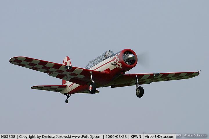 N63838, 1941 Consolidated Vultee BT-13A C/N 2276, Consolidated Vultee BT-13A Valiant  C/N 2276, N63838