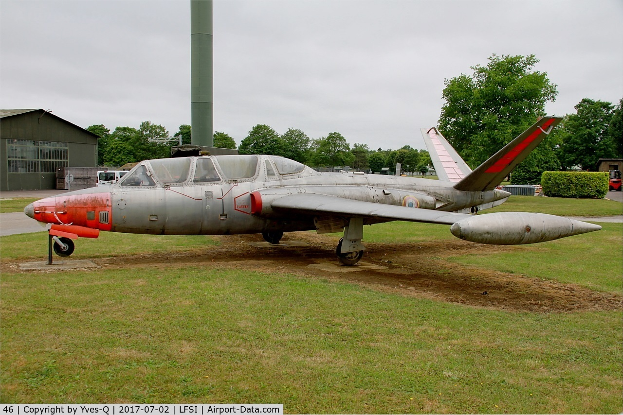 46, Fouga CM-170 Magister C/N 46, Fouga CM-170 Magister, Preserved at St Dizier-Robinson Air Base 113 (LFSI)