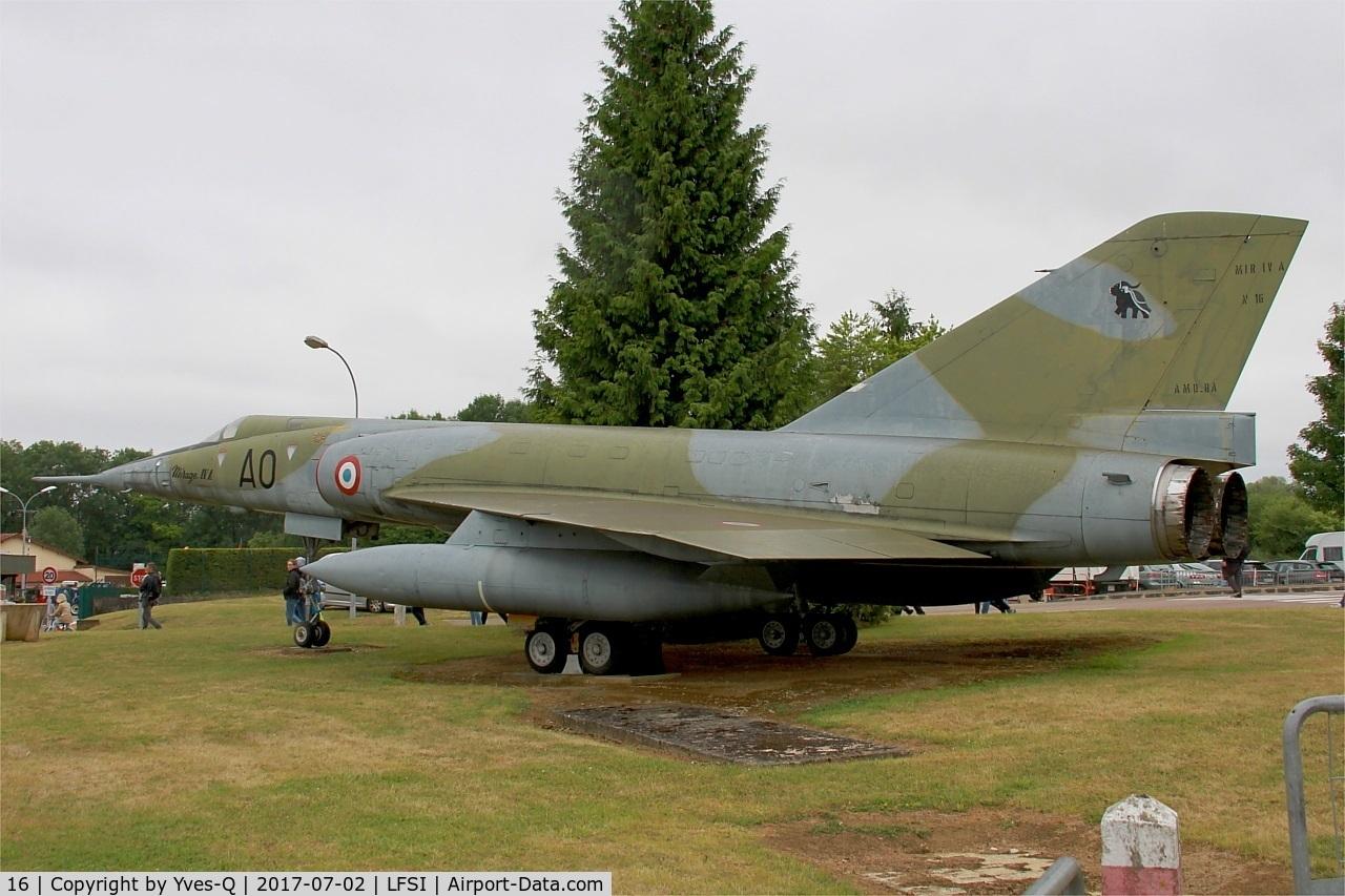 16, Dassault Mirage IVA C/N 16, Dassault Mirage IV-A, Preserved at St Dizier-Robinson Air Base 113 (LFSI)