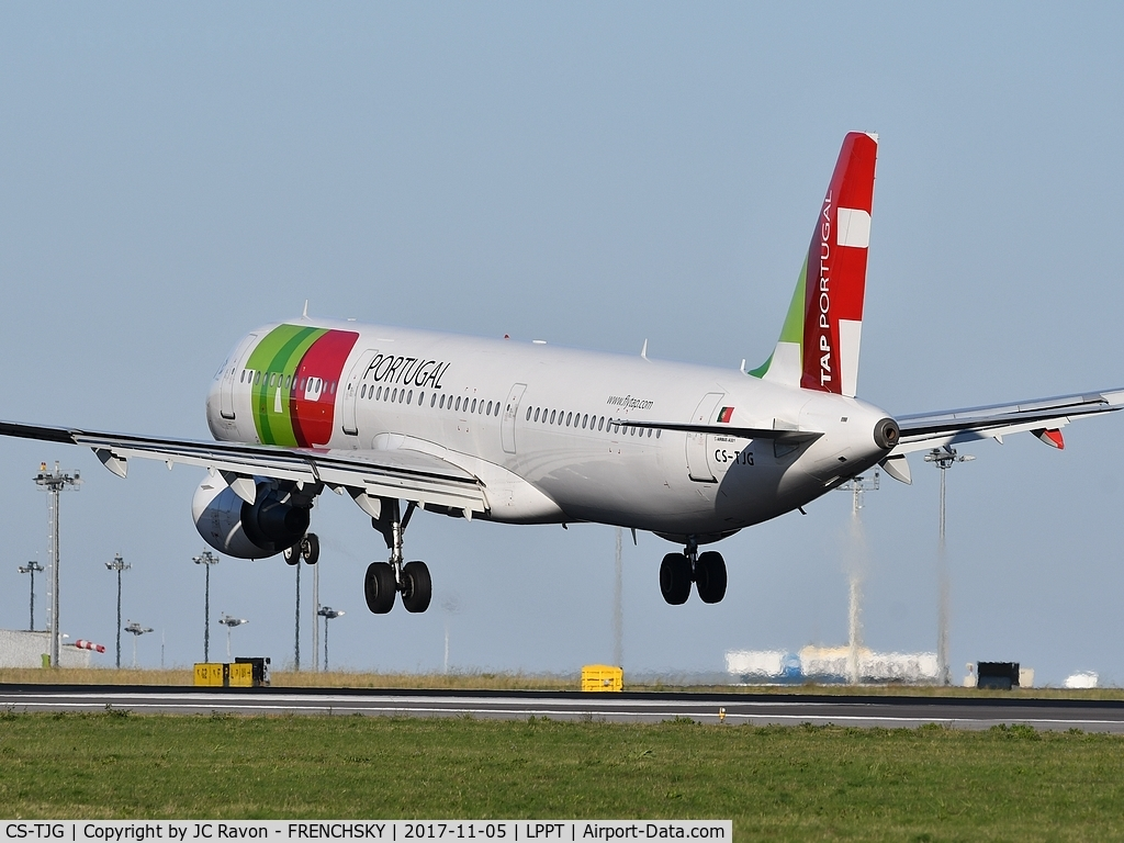CS-TJG, 2002 Airbus A321-211 C/N 1713, TAP853 landing runway 03 from Frankfurt (FRA)