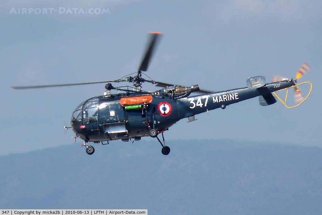 347, Sud Aviation SA-319B Alouette III C/N 2347, In flight