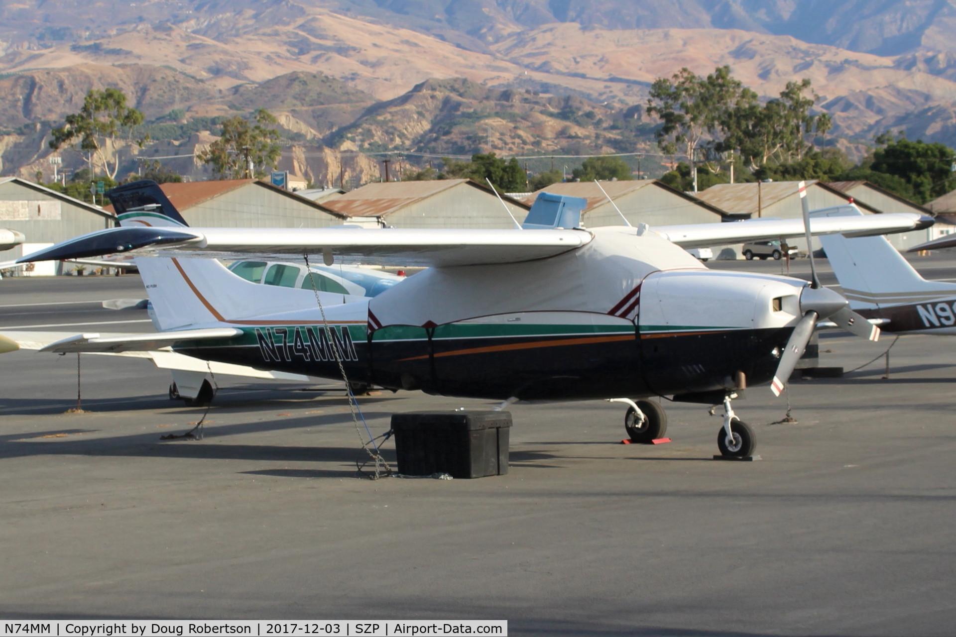 N74MM, 1974 Cessna T210L Turbo Centurion C/N 21060375, 1974 Cessna T210L TURBO CENTURION, Continental TSIO-550 310 Hp