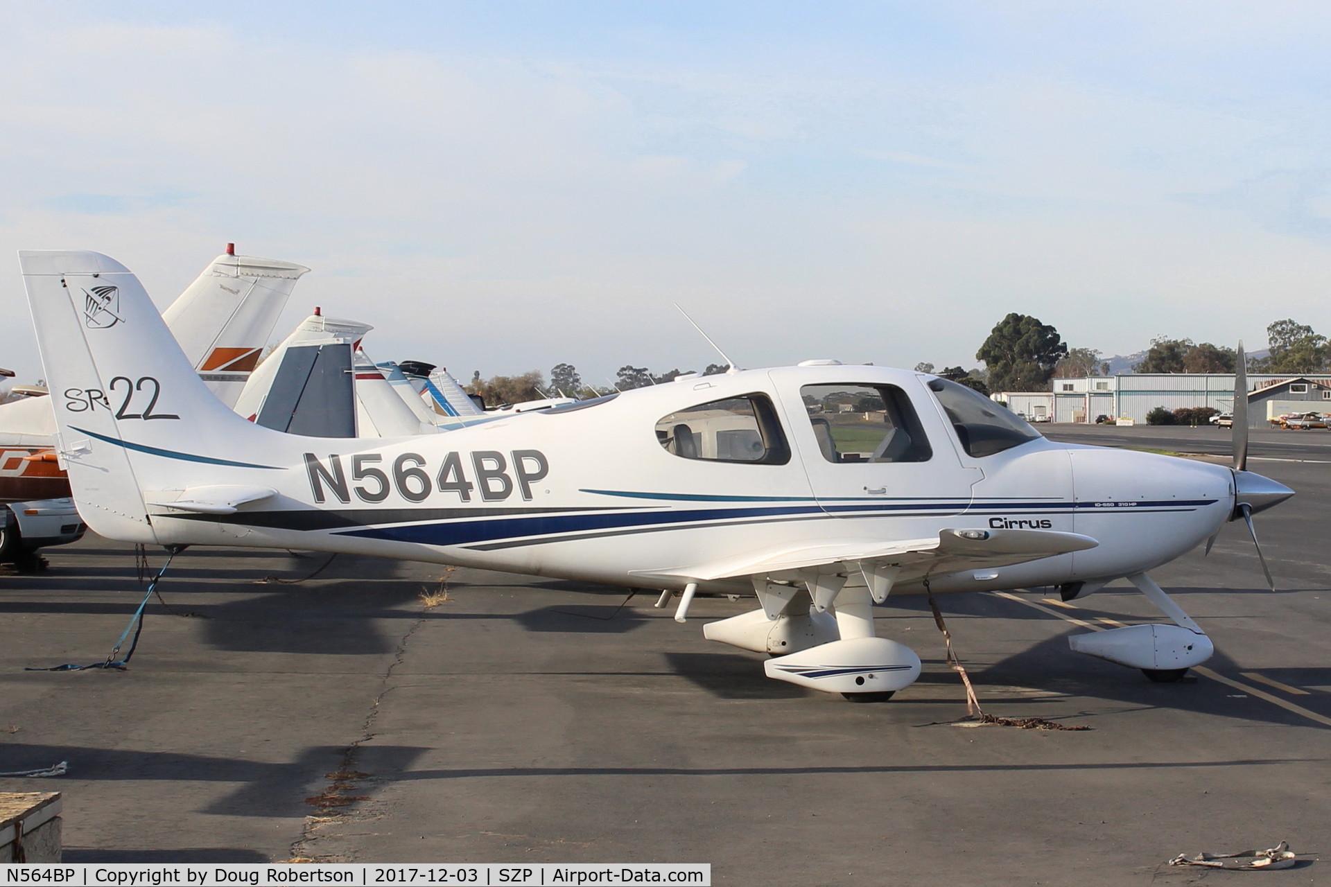 N564BP, 2001 Cirrus SR22 C/N 0135, 2001 CIRRUS SR-22, Continental IO-550 310 Hp