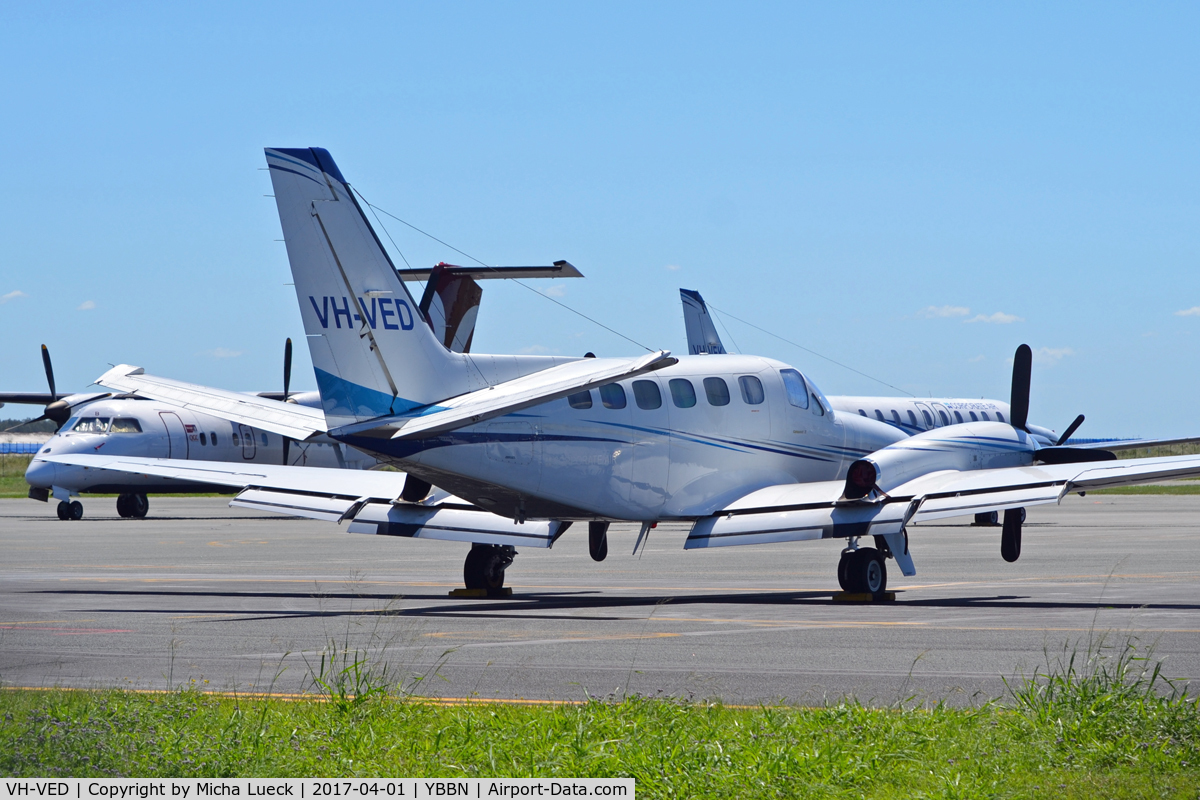 VH-VED, 1981 Cessna 441 Conquest II C/N 441-0272, At Brisbane
