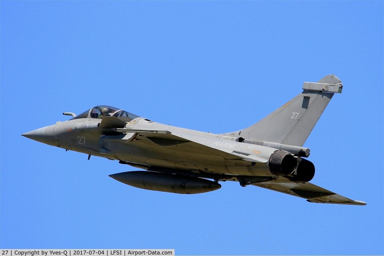 27, 2011 Dassault Rafale M C/N 27, Dassault Rafale M, Overshoot final rwy 29, St Dizier-Robinson Air Base 113 (LFSI)