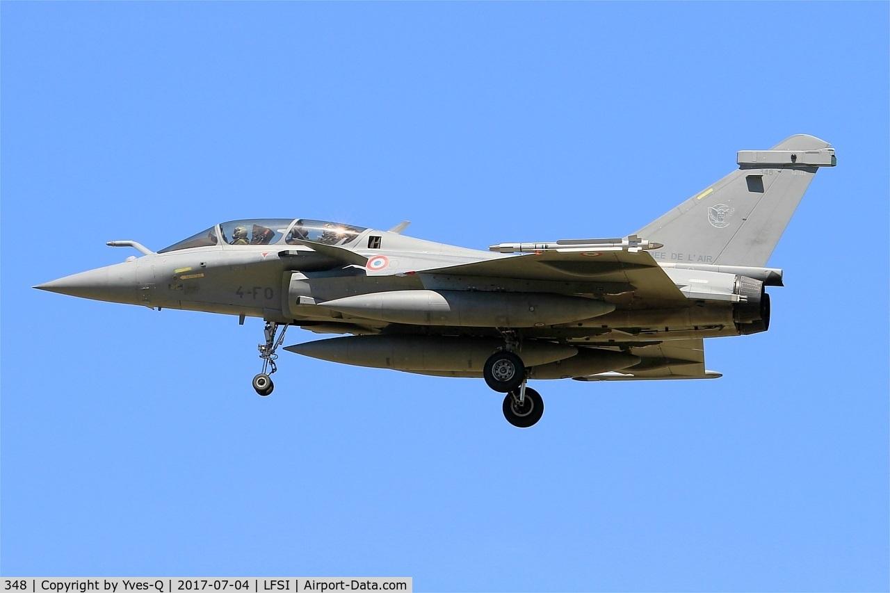 348, Dassault Rafale B C/N 348, Dassault Rafale B, On final rwy 29, St Dizier-Robinson Air Base 113 (LFSI)