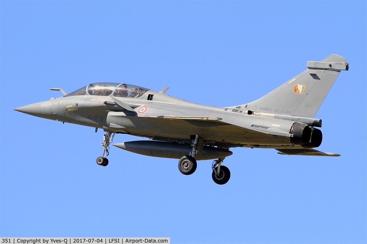 351, 2014 Dassault Rafale B C/N 351, Dassault Rafale B, On final rwy 29, St Dizier-Robinson Air Base 113 (LFSI)