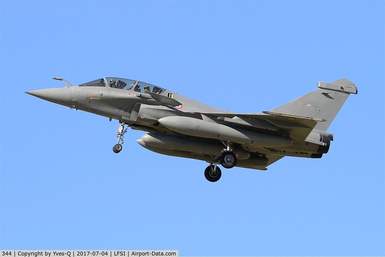 344, Dassault Rafale B C/N 344, Dassault Rafale B, Short approach rwy 29, St Dizier-Robinson Air Base 113 (LFSI)