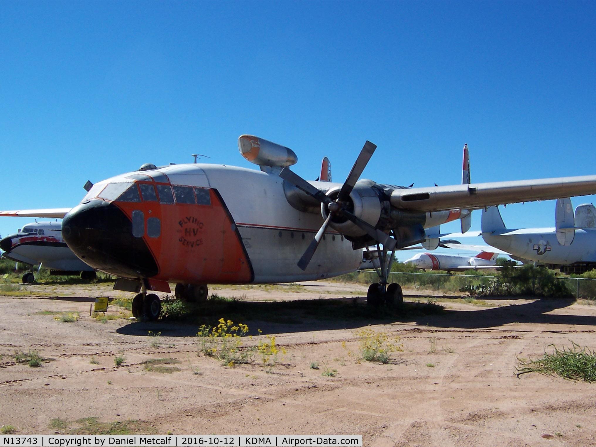 N13743, 1949 Fairchild C-119C Flying Boxcar C/N 10369 (49-132), Pima Air & Space Museum