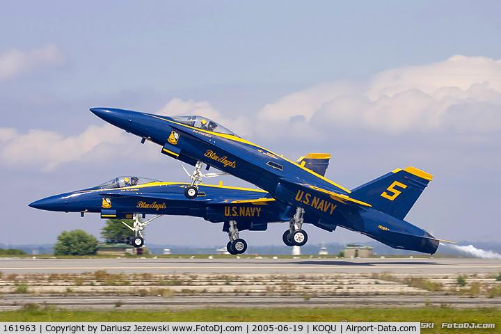 161963, McDonnell Douglas F/A-18A Hornet C/N 0178, F/A-18A Hornet 161963 C/N 0178 from Blue Angels Demo Team  NAS Pensacola, FL