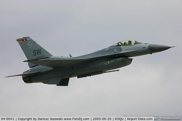 94-0041, 1994 General Dynamics F-16CM Fighting Falcon C/N CC-193, F-16CJ Fighting Falcon 94-0041 SW from 77th FS