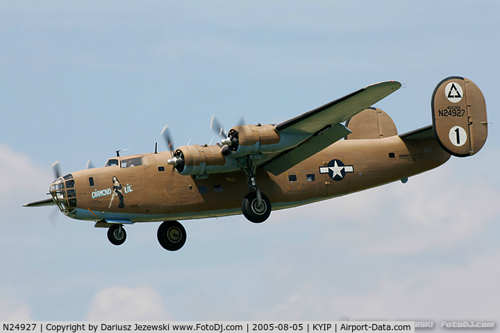 N24927, 1940 Consolidated Vultee RLB30 (B-24) C/N 18, Consolidated Vultee RLB-30 Liberator