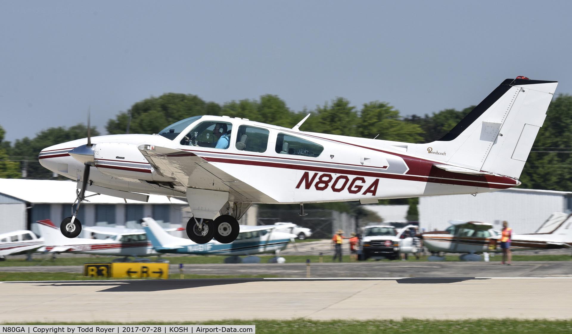 N80GA, 1979 Beech E-55 Baron C/N TE-1169, Airventure 2017