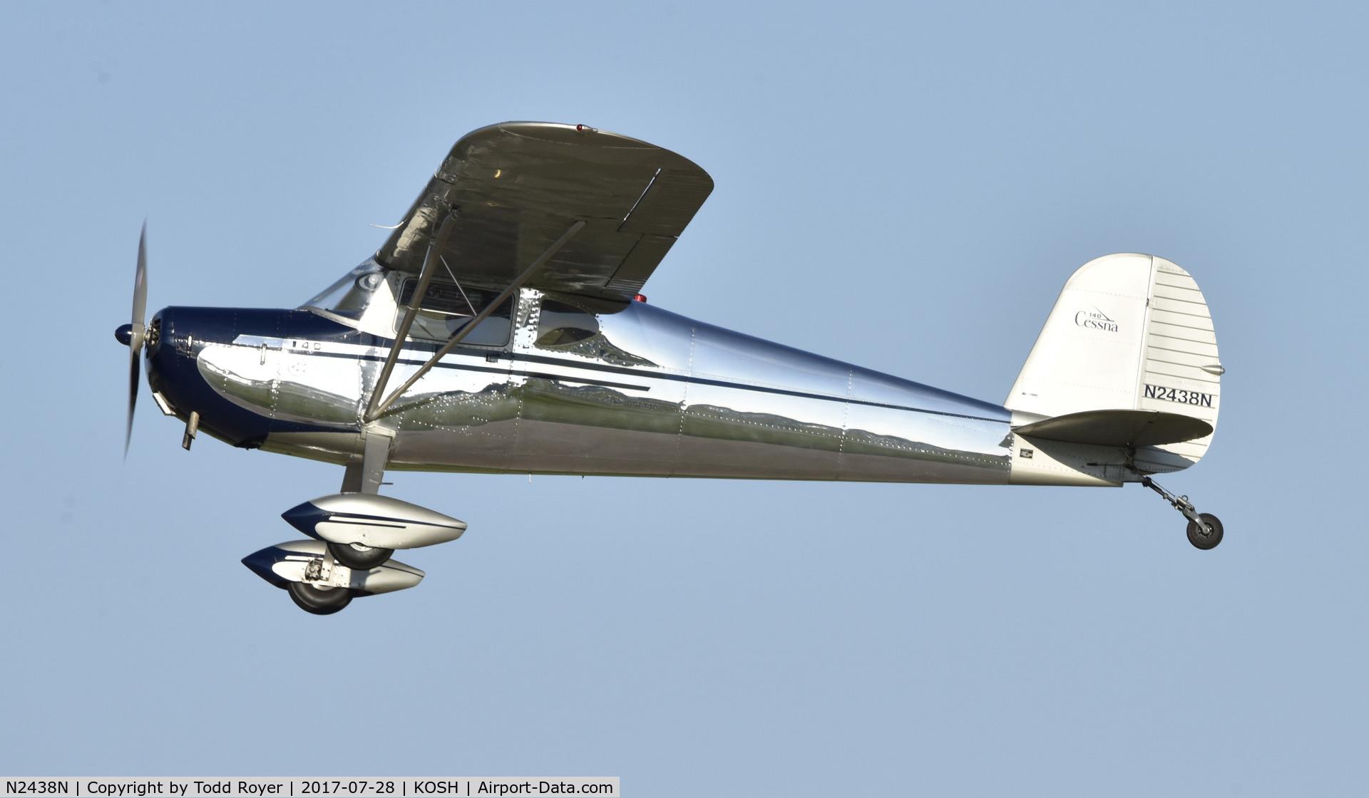 N2438N, 1947 Cessna 140 C/N 12691, Airventure 2017
