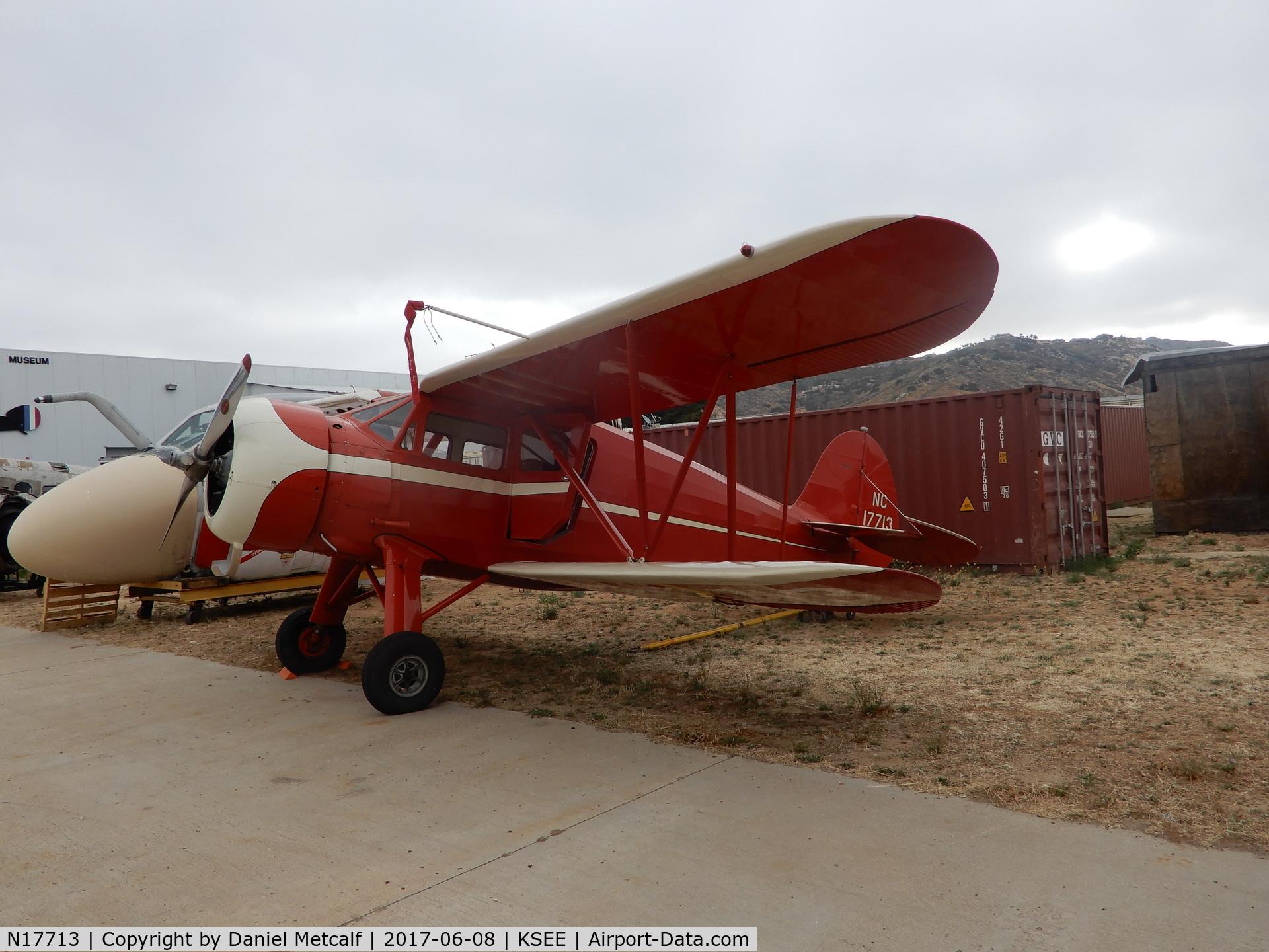 N17713, 1937 Waco YKS-7 C/N 4625, San Diego Air & Space Museum (Gillespie Field Annex)
