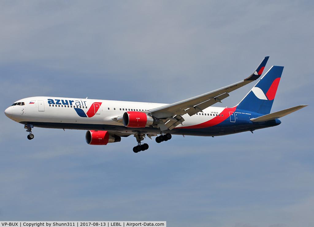 VP-BUX, 1991 Boeing 767-3Y0/ER C/N 24947, Landing rwy 25R
