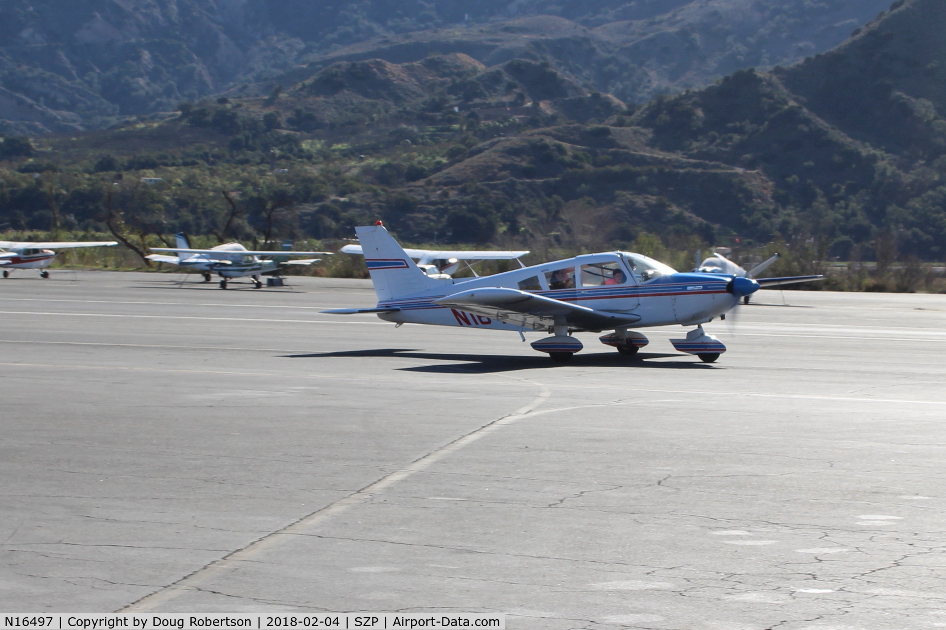 N16497, 1973 Piper PA-28-235 Cherokee Charger C/N 28-7310101, 1973 Piper PA-28-235 CHARGER, Lycoming O-540-D4B5 235 Hp, taxi to Rwy 04, Young Eagles flight