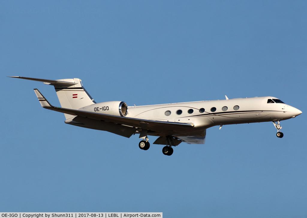 OE-IGO, Gulfstream Aerospace 550 C/N 5434, Landing rwy 25R