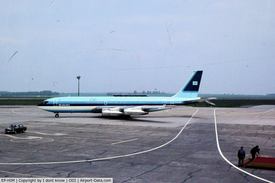 EP-HIM, 1978 Boeing 707-386C C/N 21396, The Shahin(Falcon in Persian) aircraft was named a Imperial Boeing 707 belonging to the Imperial Air Force of Iran , which King Mohammad Reza Shah Pahlavi and Queen used for domestic and foreign travel before 1979 and now renamed to EP-IJE or 1001