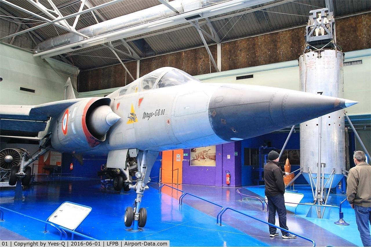 01, Dassault Mirage G8 C/N 01, Dassault Mirage G8, Air & Space Museum Paris-Le Bourget (LFPB)