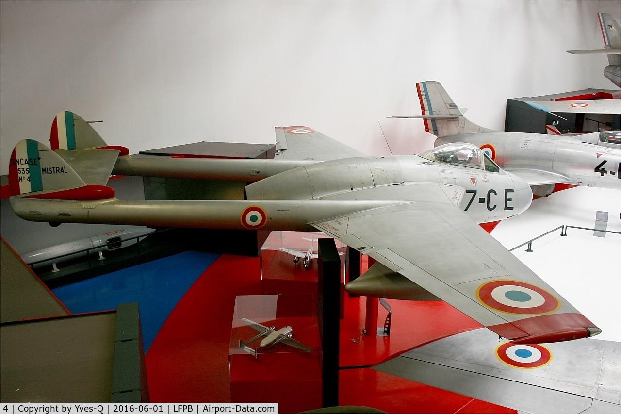 4, Sud-Est SE-535 Mistral C/N 4, Sud-Est SE-535 Mistral, Exibited at Air & Space Museum Paris-Le Bourget (LFPB)