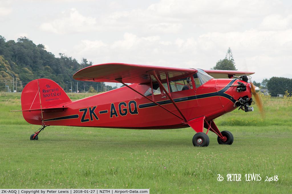 ZK-AGQ, 1938 Rearwin 9000L C/N 613D, Rearwin Sportster AGQ Syndicate, Te Puke