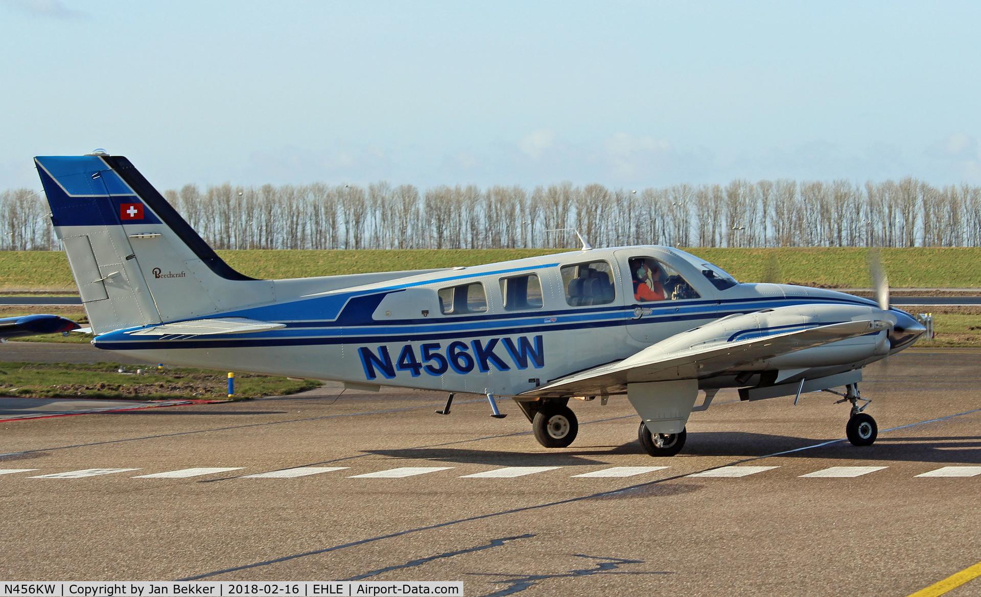 N456KW, 1982 Beech 58P Baron C/N TJ-427, Lelystad Airport