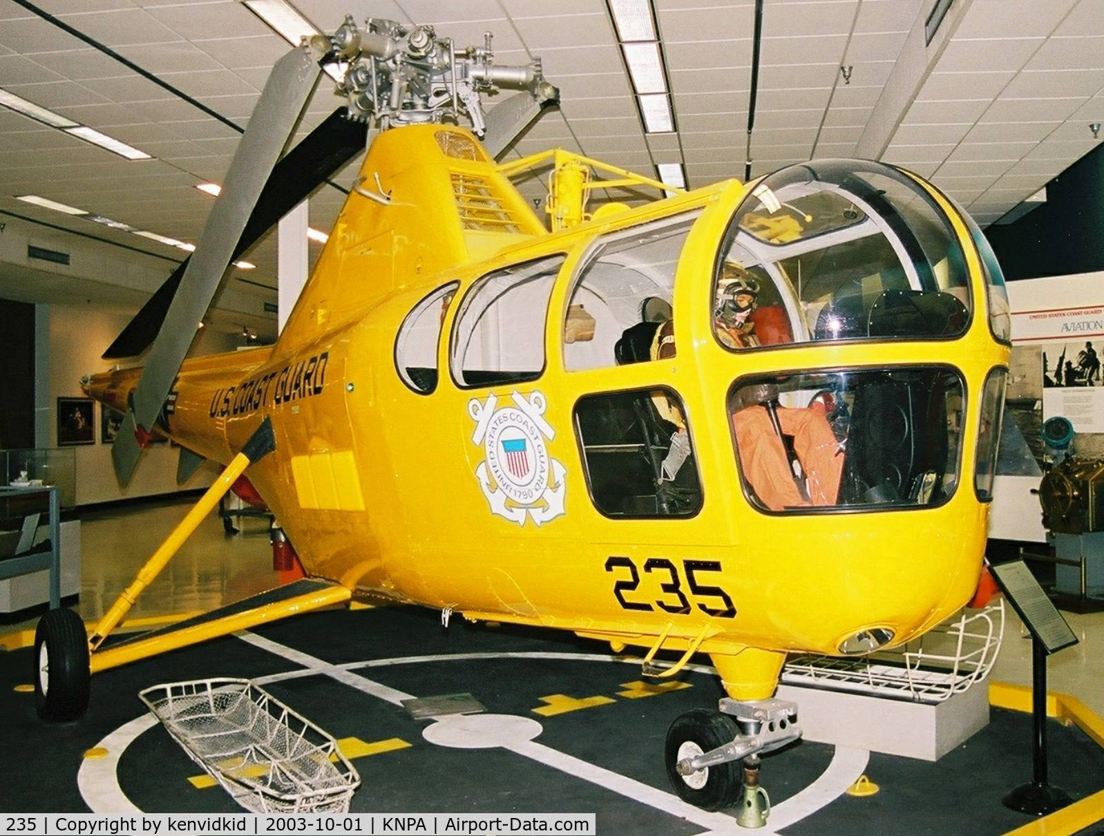 235, 1950 Sikorsky HO3S-1G C/N 51214, On display at the Museum of Naval Aviation, Pensacola.