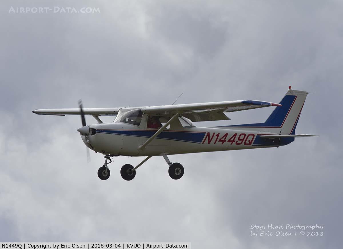 N1449Q, 1971 Cessna 150L C/N 15072749, Cessna 150 landing at Pearson Field
