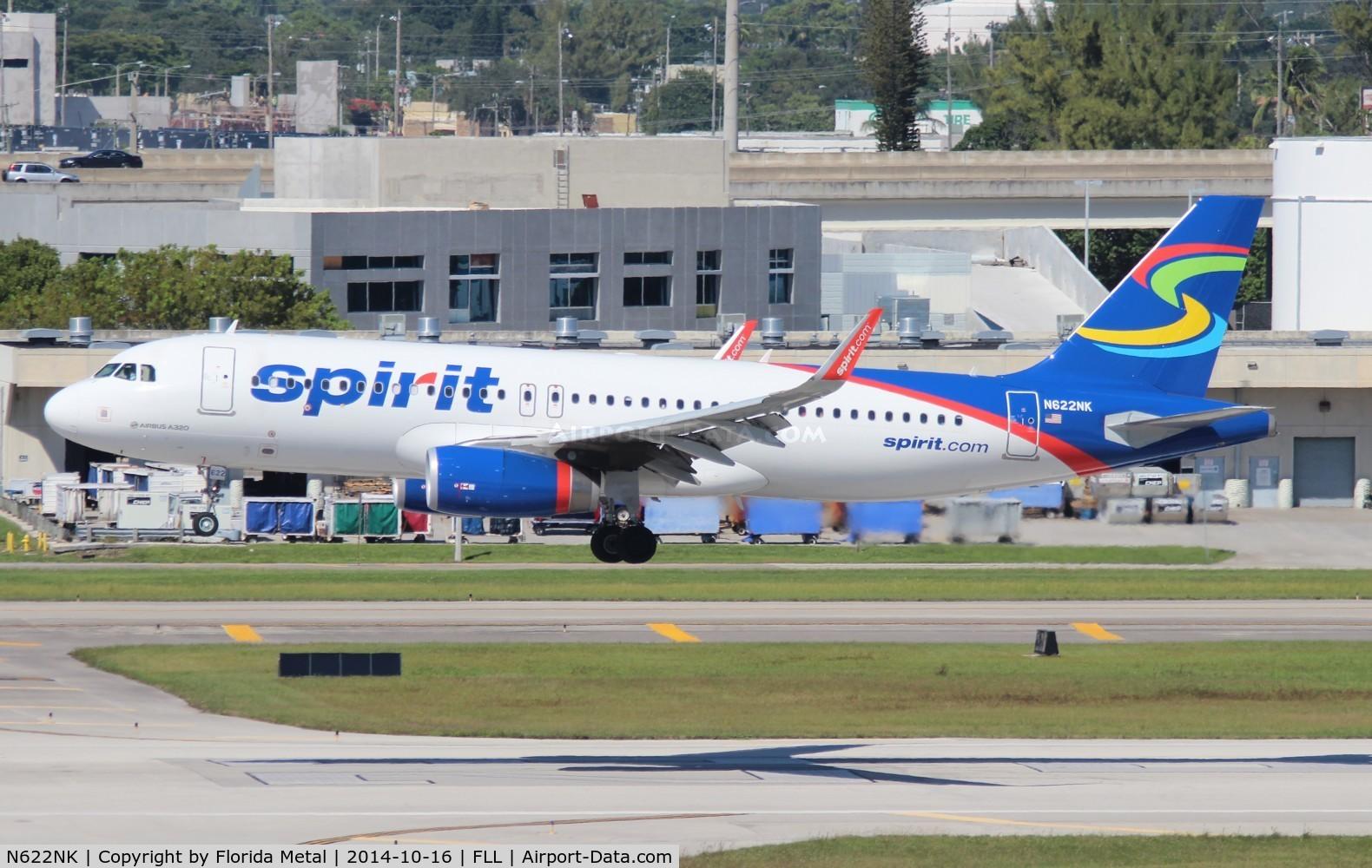 N622NK, 2013 Airbus A320-232 C/N 5804, Spirit