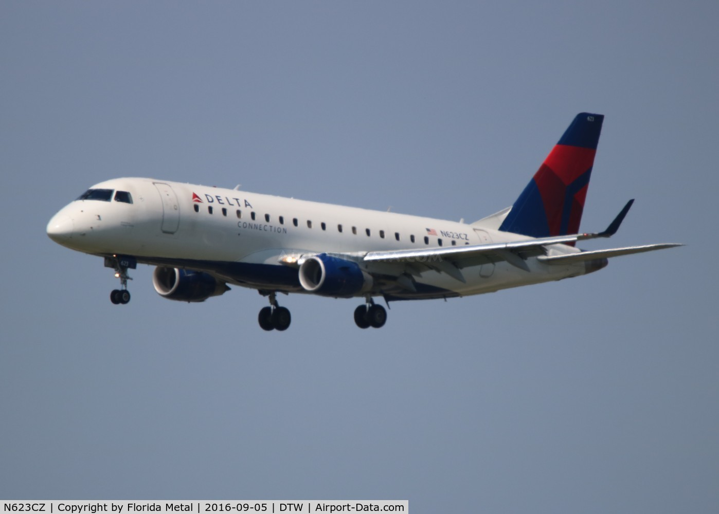 N623CZ, 2008 Embraer 175LR (ERJ-170-200LR) C/N 17000221, Delta Connection